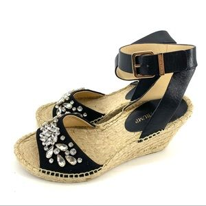 Ivanka Trump Dona 3 escadrille Embellished wedges